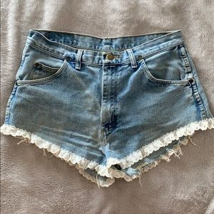 Urban Renewal Wrangler Lace Shorts